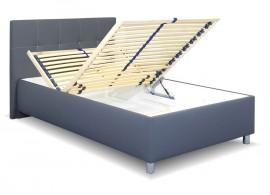 Čalouněná postel s úložným prostorem Crissy, 140x200