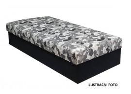 Čalouněná postel s úložným prostorem Kuba, Šedobílá-šedá, 90x200 cm