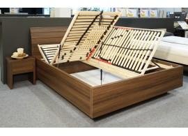 Manželská postel s úložným prostorem Salmia, boční výklop, 160x200, 180x200