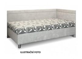 Čalouněná postel s úložným prostorem Sára, 140x200 cm, ČERNOBÍLÁ - BÍLÁ EKOKŮŽE, PRAVÁ