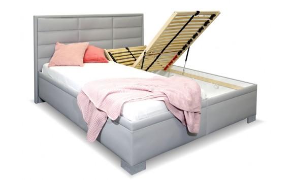 Vysoká čalouněná postel s úložným prostorem CASIOPEA