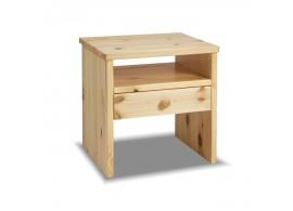 Noční stolek G-W1 - masiv borovice