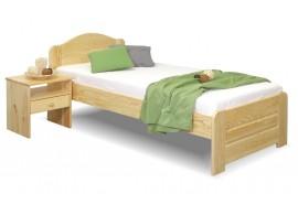 Dřevěná postel jednolůžko LADA, masiv borovice