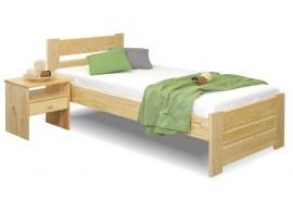 Dřevěná postel jednolůžko Hana, masiv borovice