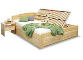 Dřevěná postel LADA, s úložným prostorem, masiv borovice