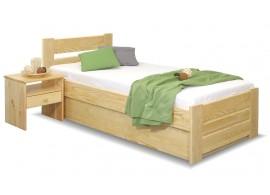 Dřevěná postel s úložným prostorem Hanka, masiv borovice