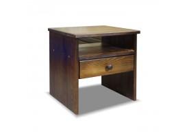 Noční stolek G-W1 - masiv borovice, moření ořech