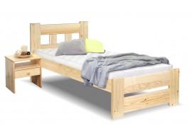 Dřevěná postel jednolůžko Barča, masiv borovice