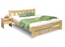 Dřevěná postel dvoulůžko Barča, masiv borovice