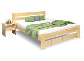 Dřevěná postel dvoulůžko Hanka New, masiv borovice
