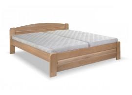 Dvoulůžková postel Lada, 160x200, 180x200, masiv buk