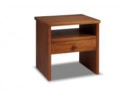 Noční stolek G-W1, masiv buk, moření ořech