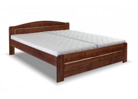 Dvoulůžková postel Lada, 160x200, 180x200, masiv buk, moření ořech