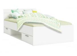 Multifunkční postel s úložným prostorem Michigan 90x200, lamino, bílá