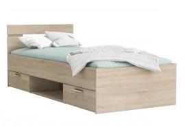 Multifunkční postel s úložným prostorem Michigan 90x200, lamino, dub sonoma