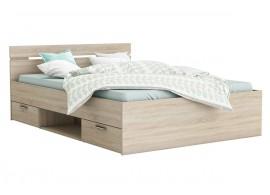 Multifunkční postel s úložným prostorem Michigan 140x200, lamino, dub sonoma