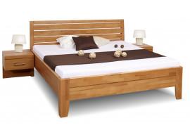 Zvýšená postel dvoulůžko z masivu CONCEPTA 1, masiv buk