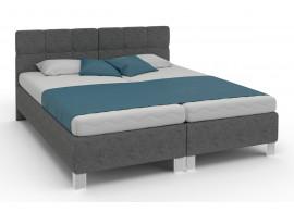 Zvýšená čalouněná postel s úložným prostorem Dueto