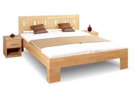 Dřevěná postel dvoulůžko z masivu LENA 1, 180x200, masiv buk