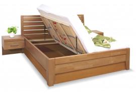 Zvýšená postel s úložným prostorem CONCEPTA 1, masiv buk
