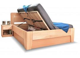 Dřevěná postel z masivu Venus, 160x200, 180x200, masiv buk
