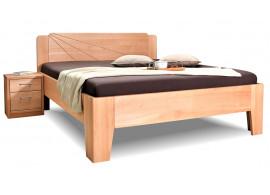 Dřevěná postel z masivu Kleopatra 1, 160x200, 180x200, masiv buk