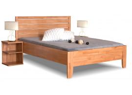 Zvýšená postel jednolůžko z masivu Erin 1, 140x200 cm, masiv buk