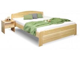 Dřevěná postel dvoulůžko LADA, masiv borovice