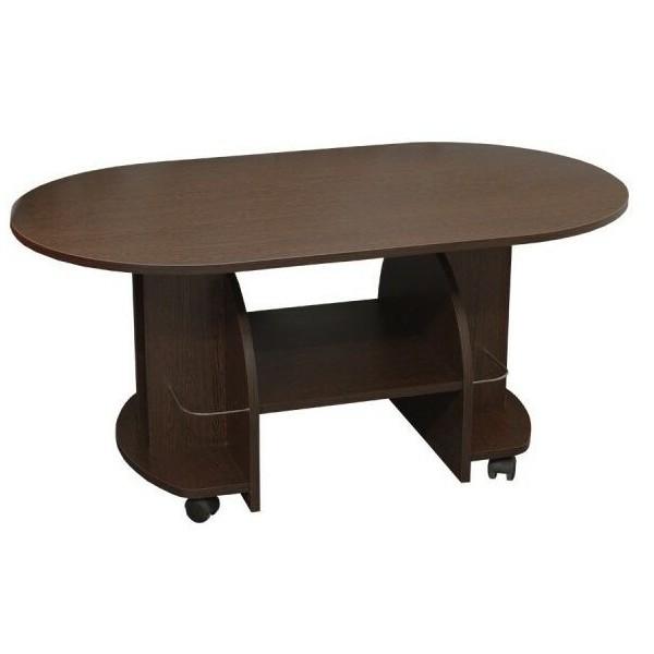 Konferenční stolek oválný 120x70 - KR12, lamino