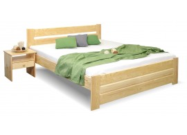 Dřevěná postel dvoulůžko Hanka, masiv borovice