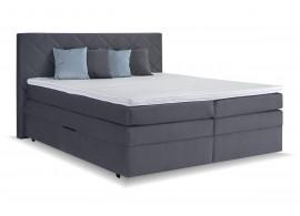 Americká postel boxspring s úložným prostorem Atika, 160x200 cm, šedá
