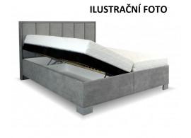 Zvýšená čalouněná postel s úložným prostorem Karin, 160x200, BÍLÁ EKOKŮŽE