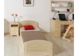 Dětská patrová postel se zábranou a úložným prostorem JAKUB