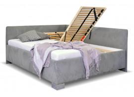 Čalouněná postel dvoulůžko s úložným prostorem Ryana