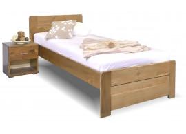 Jednolůžková postel s roštem Mark, 80x200, 90x200, masiv smrk