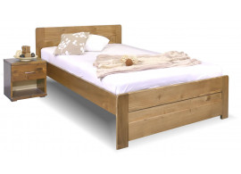 Jednolůžková postel Mark, 140x200, masiv smrk