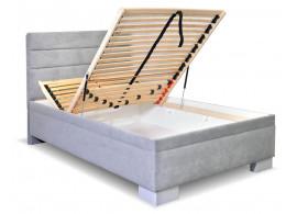 Čalouněná postel s úložným prostorem Fontana, 90x200 cm