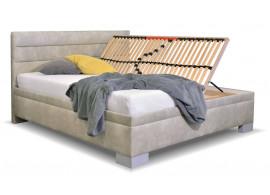 Čalouněná postel s úložným prostorem Antila