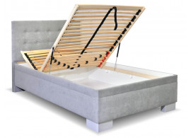 Čalouněná postel s úložným prostorem Laterna, 120x200 cm