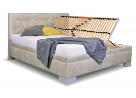 Zvýšená čalouněná postel s úložným prostorem Laterna