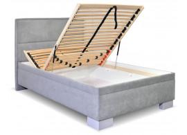 Čalouněná postel s úložným prostorem Marila, 90x200 cm