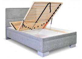 Čalouněná postel s úložným prostorem Marila, 120x200 cm