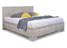 Zvýšená čalouněná postel s úložným prostorem Marila