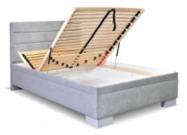 Čalouněná postel s úložným prostorem Fontana, 140x200 cm