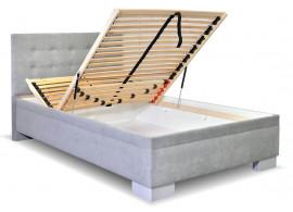 Čalouněná postel s úložným prostorem Laterna, 140x200 cm
