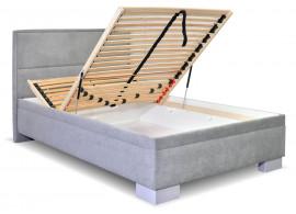 Čalouněná postel s úložným prostorem Marila, 140x200 cm