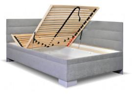 Čalouněná postel s úložným prostorem Niobe, 90x200 cm