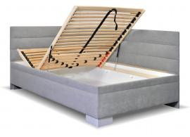 Čalouněná postel s úložným prostorem Niobe, 120x200 cm
