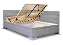 Čalouněná postel s úložným prostorem Niobe, 140x200 cm