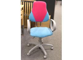 Dětská rostoucí židle FUXO, modro-růžová, VÝPRODEJ Z EXPOZICE